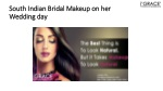 South Indian Bridal Makeup on her Wedding day