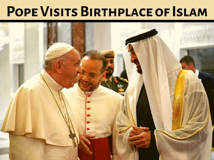 Pope visits birthplace of Islam