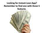 Looking for Instant Loan App? Remember to find one with these 5 features.