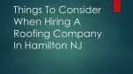 Things To Consider When Hiring A Roofing Company In Hamilton NJ
