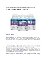 Keto Tone Diet Pills