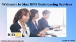 MAX BPO Outsourcing Services