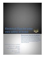 Electrical Tips for your own safety at home