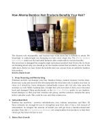 How Alterna Bamboo Hair Products Benefits Your Hair?
