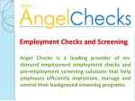 Employment Checks and Screening