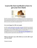 Learn the best methods to how to get your love back- Pandit kapil Sharma