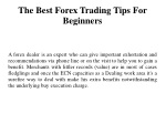 The Best Forex Trading Tips For Beginners