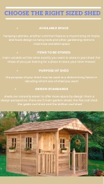 Choose the Right – Sized Shed