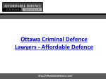 Ottawa Criminal Defence Lawyers - Affordable Defence