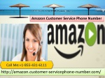 Our Techies Handle Amazon Customer Service Phone Number 1-855-431-6111