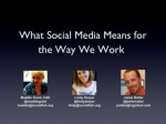How Social Media Changes The Way We Work