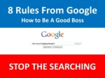 8 Google Rules for Managers