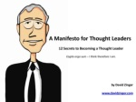 12 Ways to Get Cracking as a Thought Leader