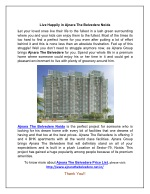 Live Happily in Ajnara The Belvedere Noida
