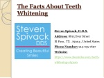 The Facts About Teeth Whitening - El Paso TX