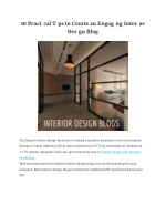 10 Practical Tips to Create an Engaging Interior Design Blog