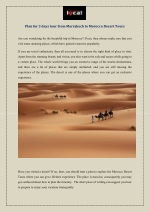 Plan for 3 days tour from Marrakech to Morocco Desert Tours