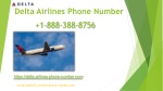 Delta Airlines Phone Number   1-888-388-8756