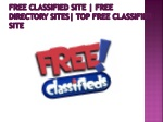 free classified site   free directory sites  top free classified site