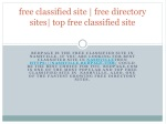 free classified site | free directory sites| top free classified site