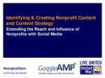 Identifying & Creating Nonprofit Content and Content Strategy