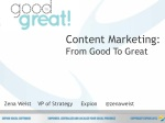 Social Fresh West Content Marketing: Good To Great