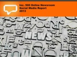 Inc 500 online newsrooms report 2013