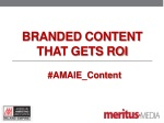Branded Content That Gets ROI