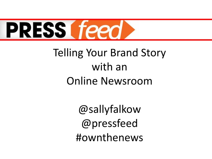 telling your brand story with an online newsroom n.
