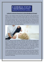 Looking For structural chiropractors For Spinal Misalignment Therapy?