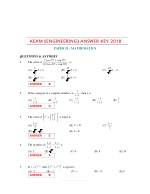 Get Previous Year KEAM Mathematics Question Papers With Answer
