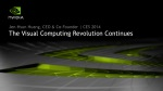 NVIDIA press conference at CES 2014