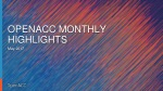 OpenACC Monthly Highlights  May 2017