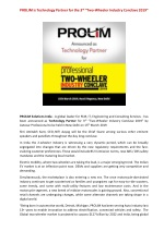 """PROLIM is Technology Partner for the 3rd """"Two-Wheeler Industry Conclave 2019"""""""