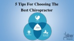 5 Tips For Choosing The Best Chiropractor
