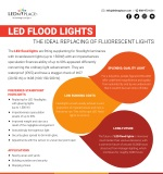 Why LED Flood Light Is The Best Replacement of Fluorescent Lights?