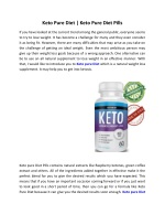 Keto Pure Diet | Keto Pure Diet Pills