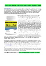 Keto Max Burn:–Ingredients, Side Effects & Where to Buy?