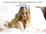 Top free classified site in Tampa  Free directory sites in tampa   Ebackpage