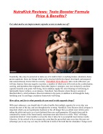 What Is NutraKick Testo Booster ?