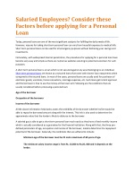 Factors before applying for a Personal Loan