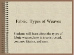 Fabric: Types of Weaves