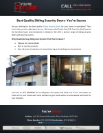Best Quality Sliding Security Doors- You're Secure