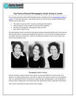 Top Famous Ranked Photography Studio Group in Austin