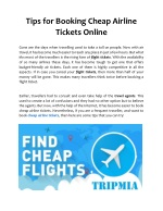 Tips for Booking Cheap Airline Tickets Online
