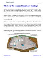 What are the causes of basement flooding
