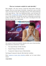 What are the treatments for male infertility?