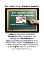 Best classified site in Minneapolis - ibackpage