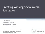 Stanford Breakfast: Creating Winning Social Media Strategies