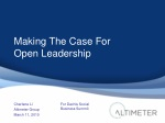 Dachis Social Business Summit - Open Leadership